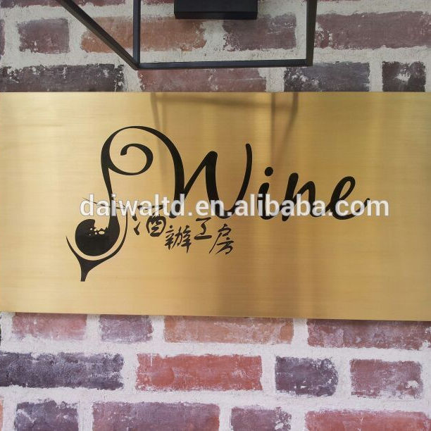 Custom Hot selling custom metal etched and engraved metal logo plate bronze/brass/copper