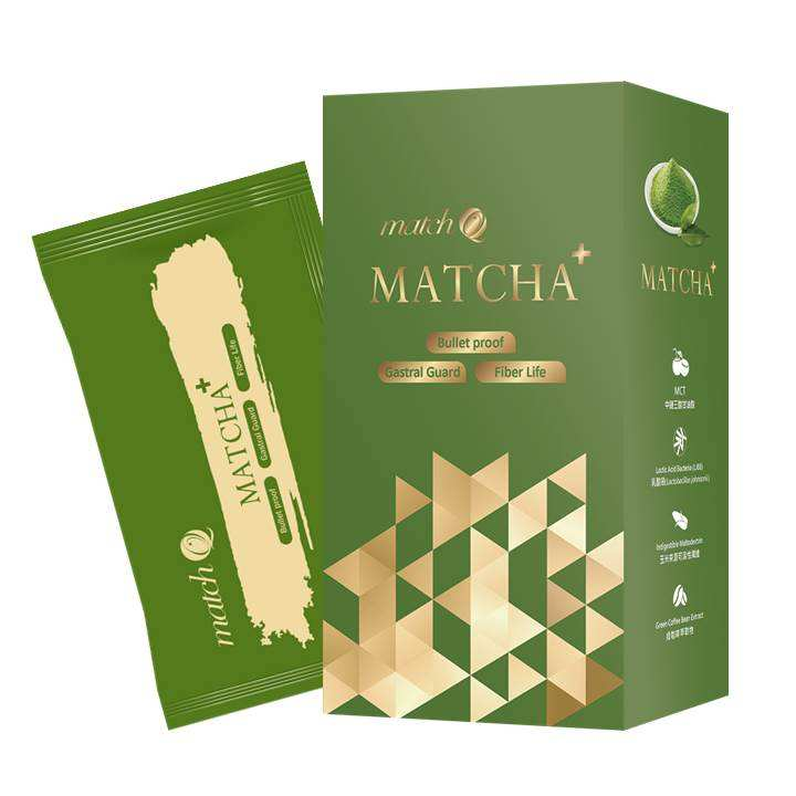 Keto Bulletproof Matcha Sachet and Box Package Coffee