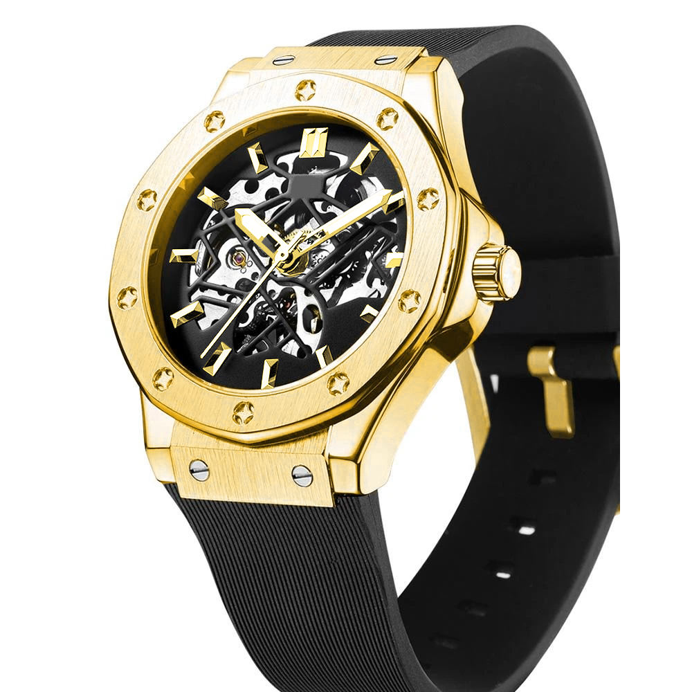 Wholesale Watches Men Luxury Brand Automatic Men Clock Stainless Steel Analog Skeleton Luxury Gift Mechanical Watch