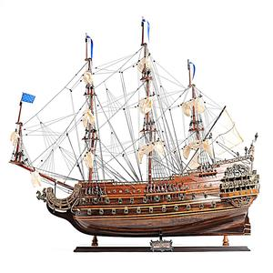 SOLEIL ROYAL MEDIUM L60 - Vietnam High Quality Wooden Model Tallship Made From Cedar Wood/ Nautical Home Decoration