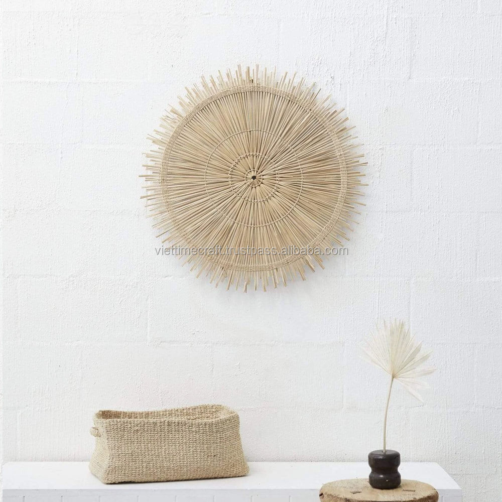 Woven Seagrass Wall Art Hanging Decor for Home made in Vietnam