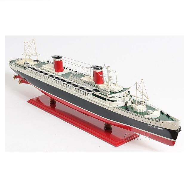 SS UNITED STATES L80 cm - Vietnam High Quality Wooden Ship Model/ Home Decoration/ Nautical Decor / Handicrafts