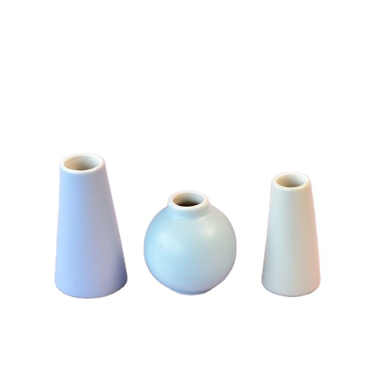 Mini White Ceramic Blumentopf Keramik Indoor Style Time Lead Moderne dekorative VASE & Schalen