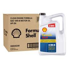 Formula Shell  Motor Oil Conventional  10W-40 - 5 Quarts( 4.73 Liters)   (Pack Of 3)