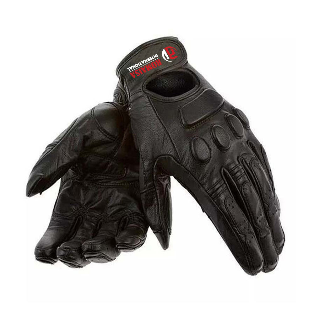 Outdoor Motorbike Genuine leather brown Motorcycle riding breathable gloves