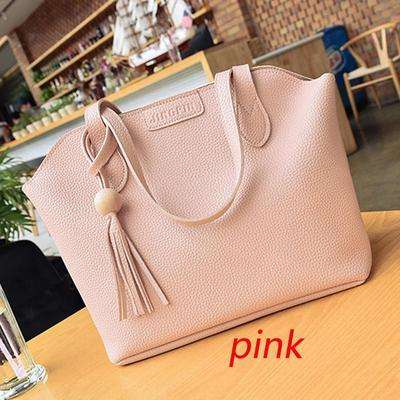 Women's Fashion Casual Large Capacity Leather Bags Handbag Shoulder Bag Tote Wallet Key Bag