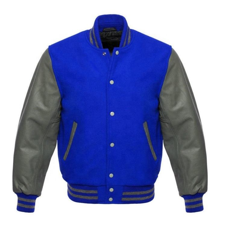 Custom Men Bomber Jacket Wholesale Custom Baseball Varsity Wool Jackets Custom Design Embroidery/ Printing With Leather Sleeves