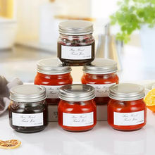 250ml fancy borosilicate glass jam jars with stainless steel airtight lid