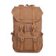 China supplier outdoor travel genuine leather canvas waterproof sport backpack for women
