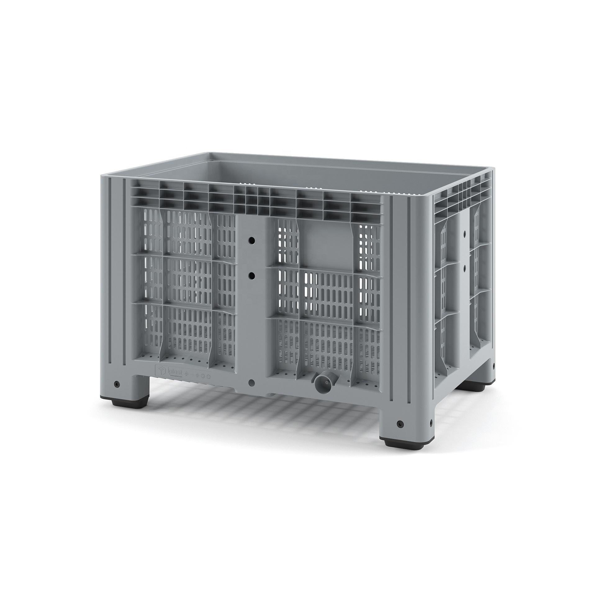 Plastic IBOX Container 1200x800 (perforated, with legs) HDPE Box Storage For Packaging And Effective Transportation