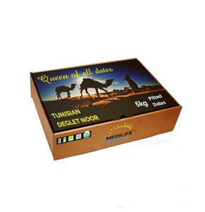 Organic Pitted Dates, Packed Pitted Dates Tunisian Deglet Nour 5 kg Carton Box