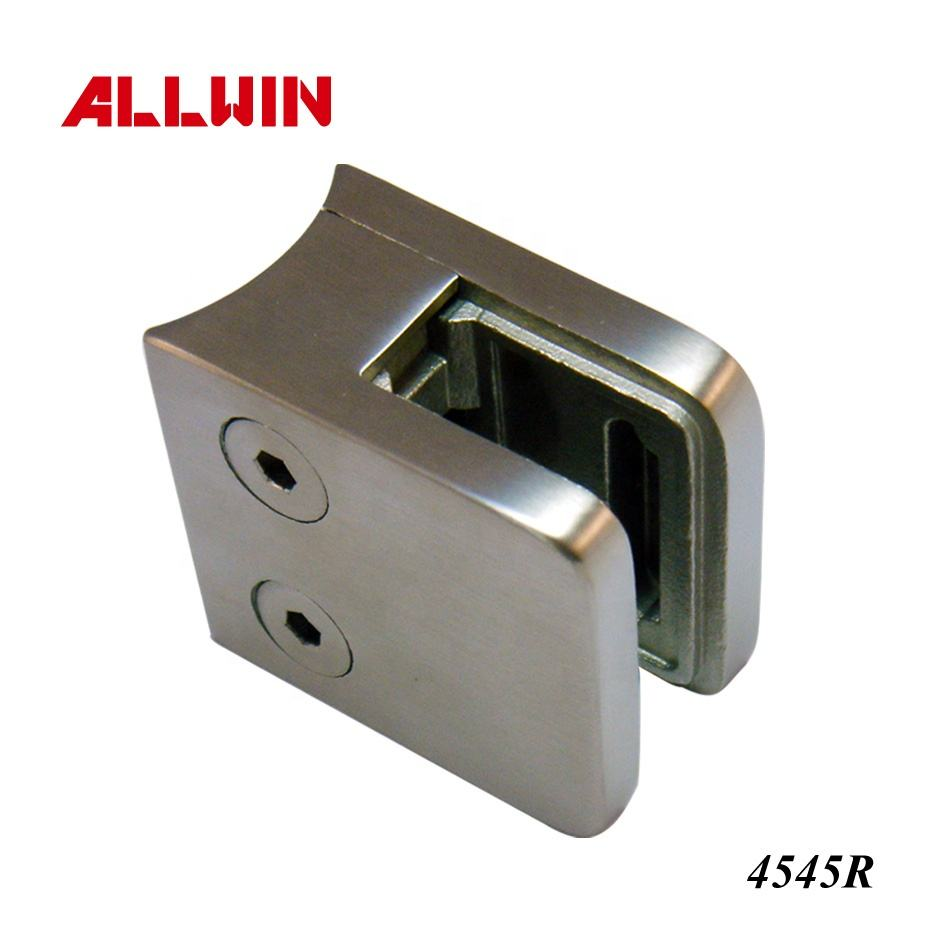 Top Quality Fair price Stainless Steel Radius Base Handrail Railing Glass Clamp
