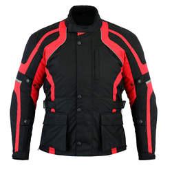 Motorcycle Motorbike Jacket Biker Waterproof CE Armoured Textile Thermal Red Jacket for men