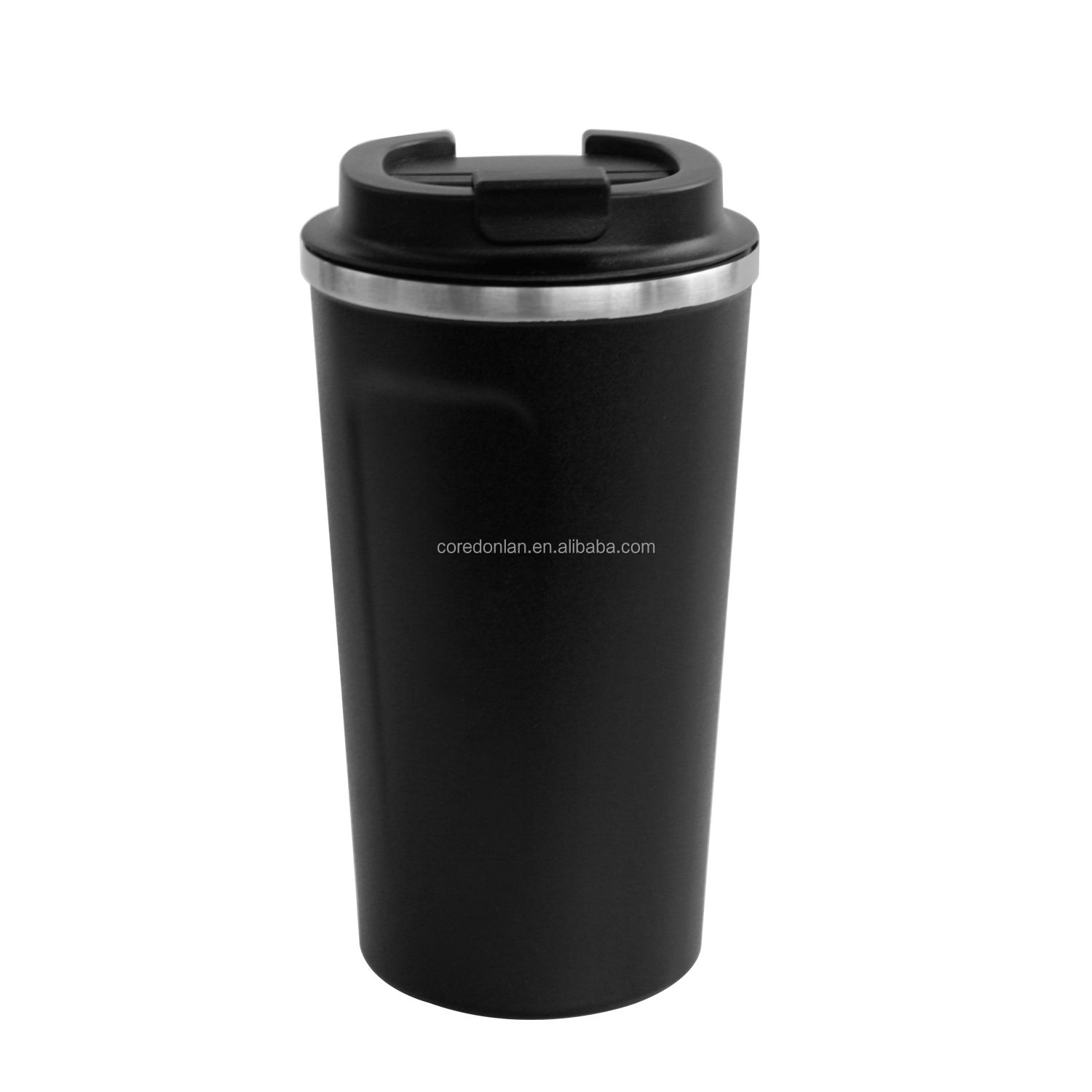 500ml Black 304 stainless steel thermos cup