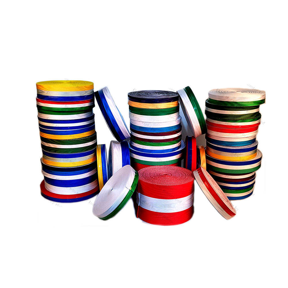 New multi color striped ribbons high quality grosgrain material water effect moire ribbon supplier