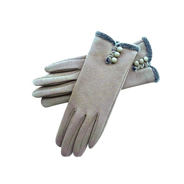 Lining Custom Made Women Ladies Girls Fashion Genuine Sheepskin Car Driving Winter革Gloves