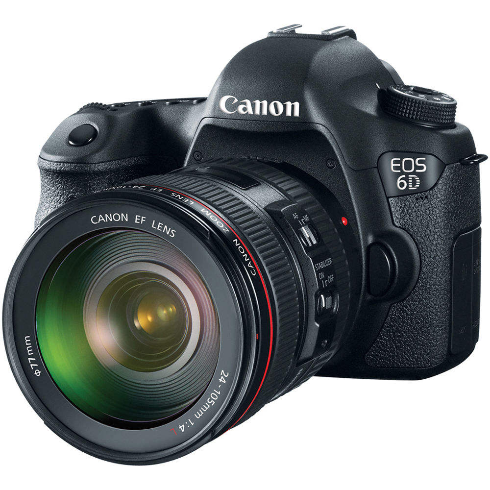 Ca-ללא EOS 6D Mark II DSLR <span class=keywords><strong>מצלמה</strong></span> עם EF 24-105mm USM עדשה-WiFi מופעל
