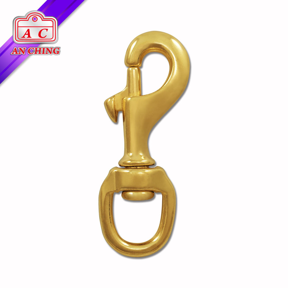 80mm Metal Solid Brass Snap Hook Solid Brass Hook