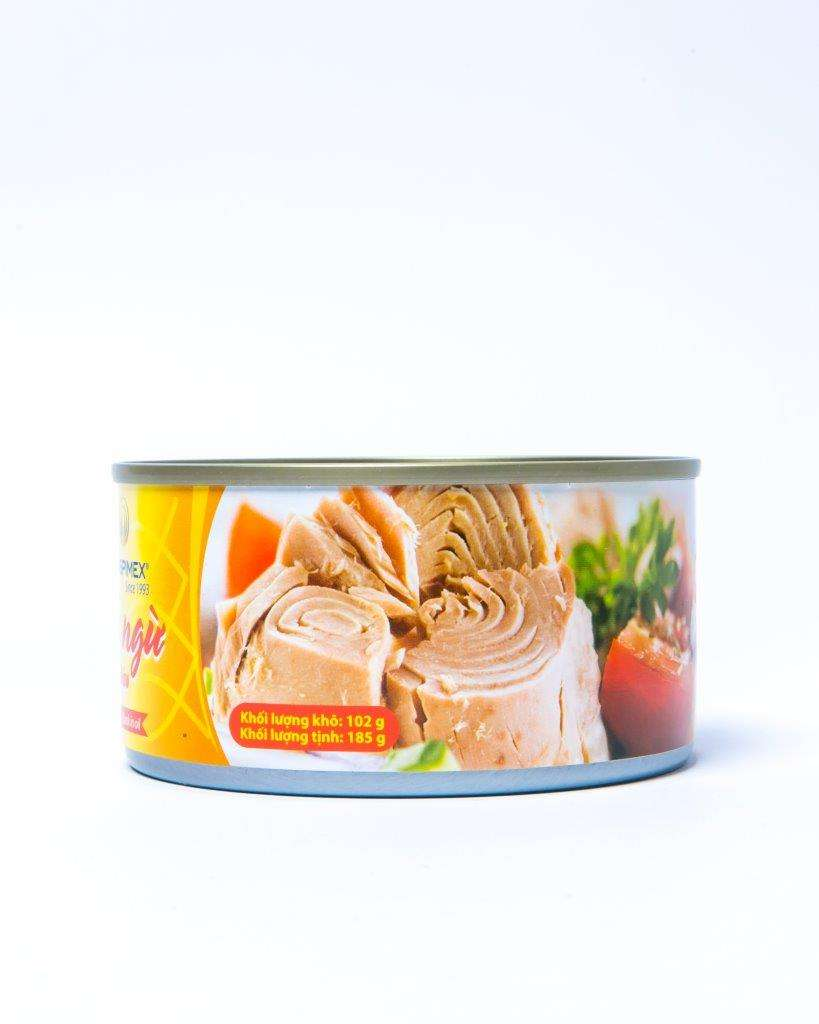 CANNED SOLID TUNA IN VEGETABLE OIL WITH CUSTOMIZED NET WEIGHT (140G/160G/170G/185G/200G/1800G)