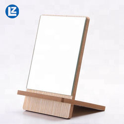 Most Popular Fashionable Wooden Frame Make Up Mirror Good Quality Custom Wood Desktop Mirror Frame Desktop Stand Mirror