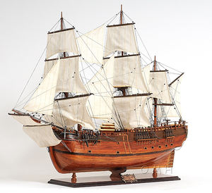 HMS Endeavour L80 - Vietnam Wooden Ship Model Made From Cedar Wood For Home And Office Decor/High-end Gifts/Nautical Crafts