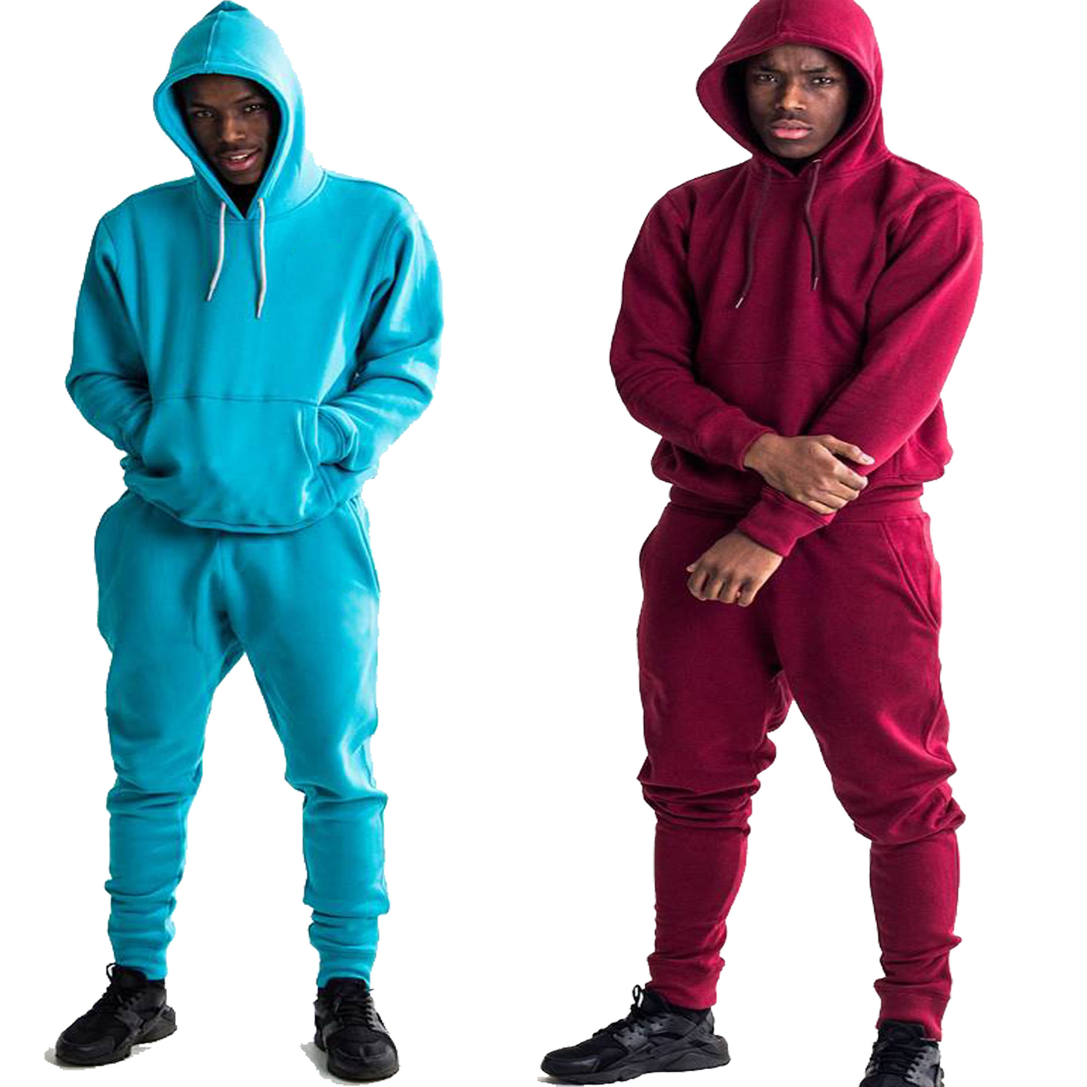 Unisex Casual Wear Winter Thick Cotton Fleece Tracksuit Sweatsuit Jogging Suit