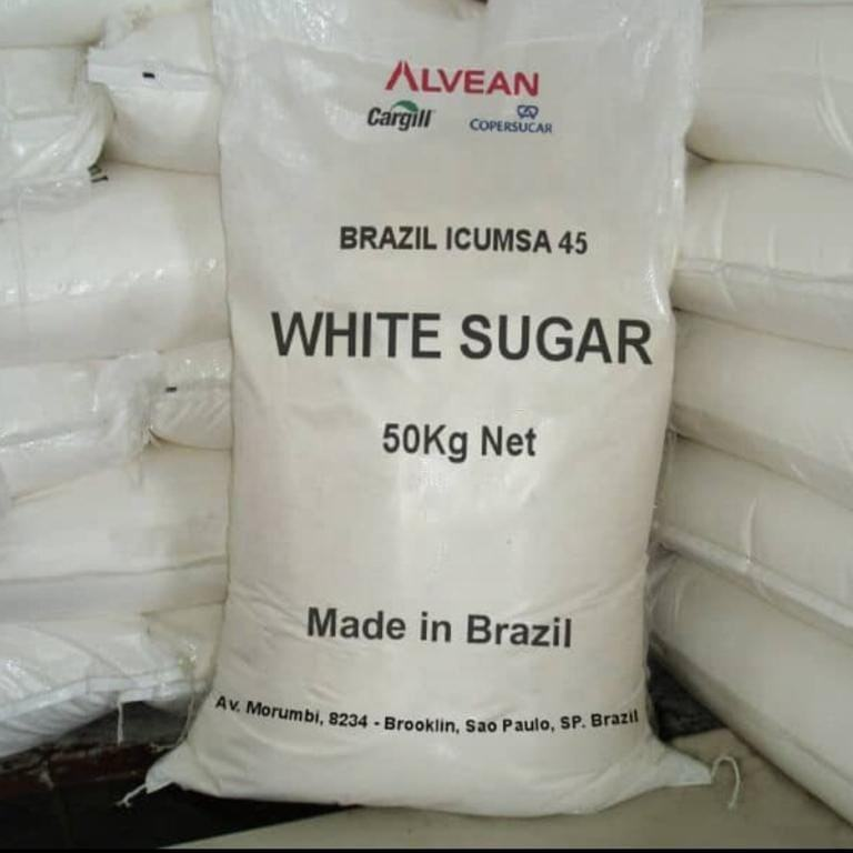 100% High Quality Brazilian Refined Crystal Icumsa Sugar ( 25kg-50kg bags )