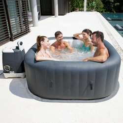 NEW Inflatable Hot Tub Pool Lay-Z SPA_4 Person Bubbles With Cover
