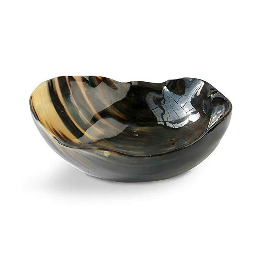 Luxury Curved Design Shiny Buffalo Serving Decorative Bowl Hot Selling and High Quality