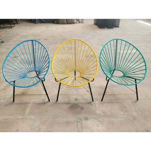 Decorative High Quality Material By Best Manufacturer Oval Shaped Iron Metal Garden Chair