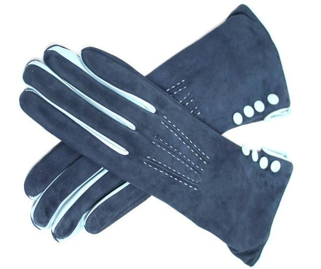 Men's Italian Cashmere Lined Suede Leather Dress Gloves / Leather Gloves with Cashmere Lining By Medexo