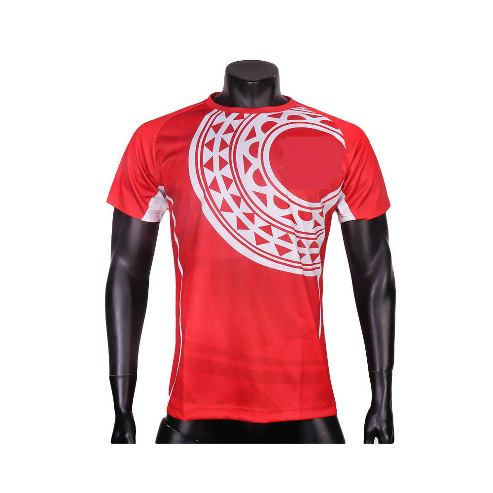 Custom Rugby Uniform Men Sports League Short Sleeve Striped Printing Sublimated Soft Fabric Rugby Jersey