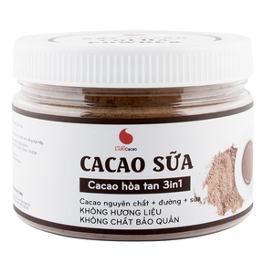 CACAO3IN1 Jar 230g Wholesale Cocoa Raw Powder Bulk In Box Packaging From Vietnam