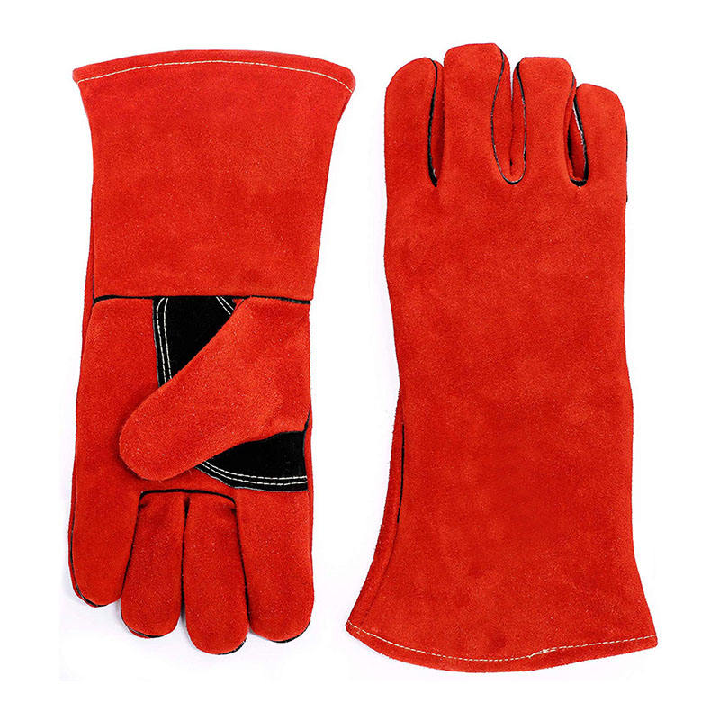 High Quality Heat Resistant standard Red Warm winter Welding Gloves