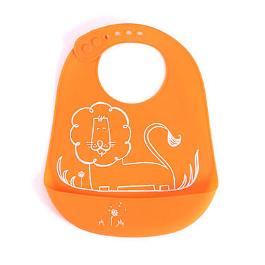 Best Selling Printed Custom Baby Bpa Free Silicone Bib With Catcher