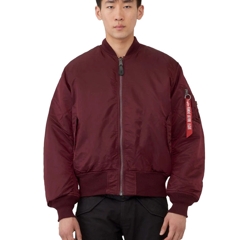 Custom MA 1 Flight Bomber Jackets/ Get Bomber Jackets with Patches and Embroidered Logos/ Men's