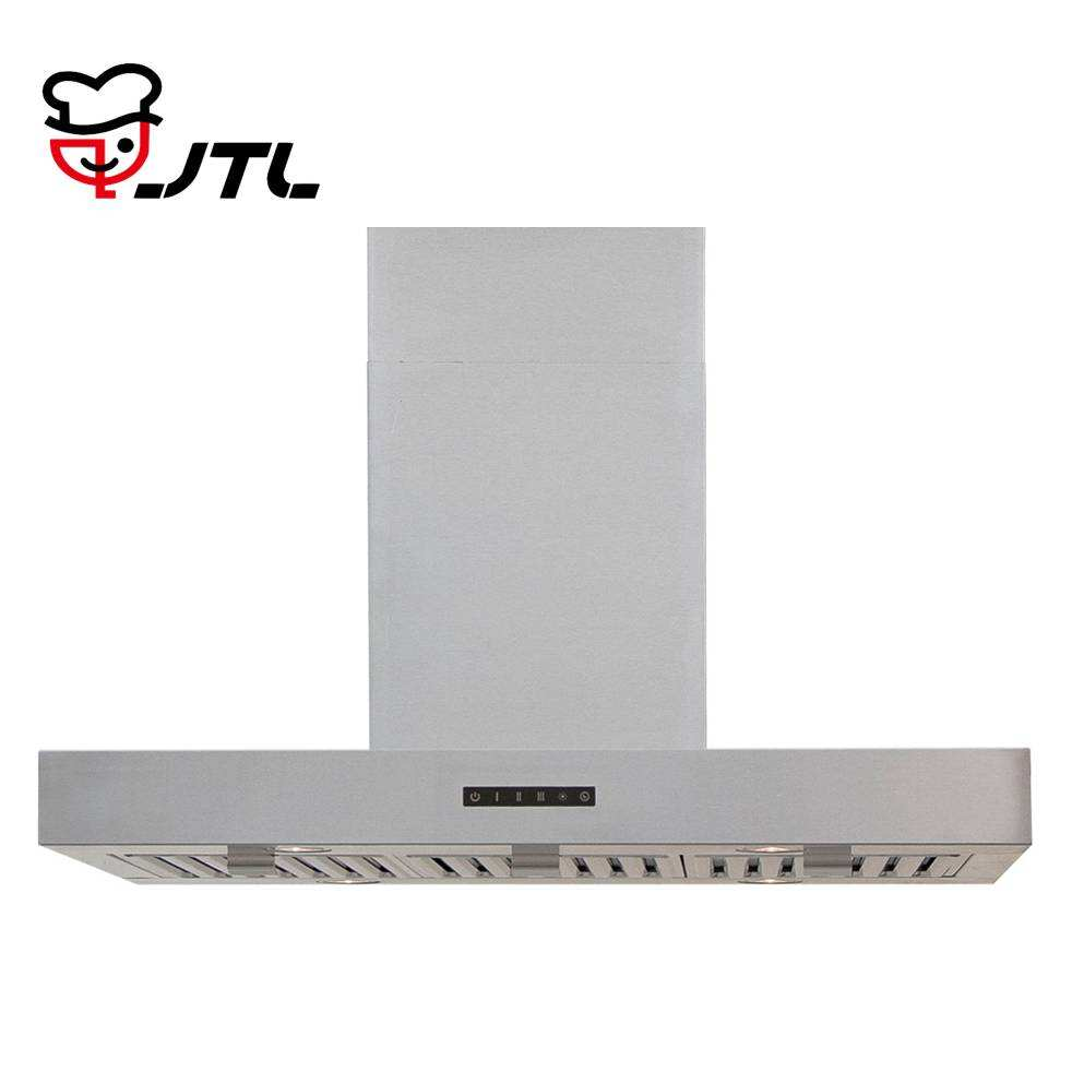 Touch control island mounted kitchen range hood