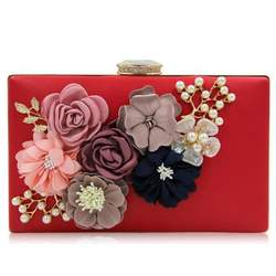 ladies party flower embellished purse wedding bridal evening clutch bag  Clutches Purse