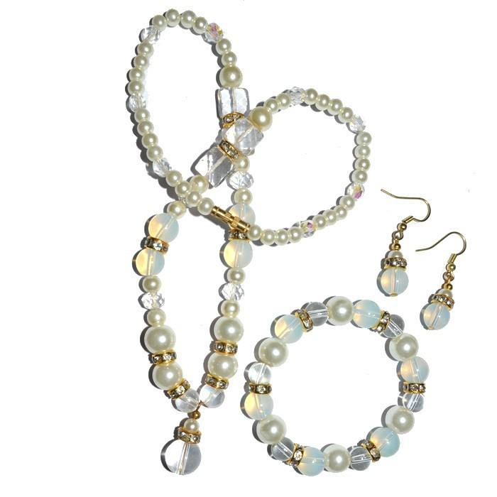 Uniquely Crafted Opalite Glass Fashion Necklace | Opalite Glass Fashion Necklace For Hot Sale Online