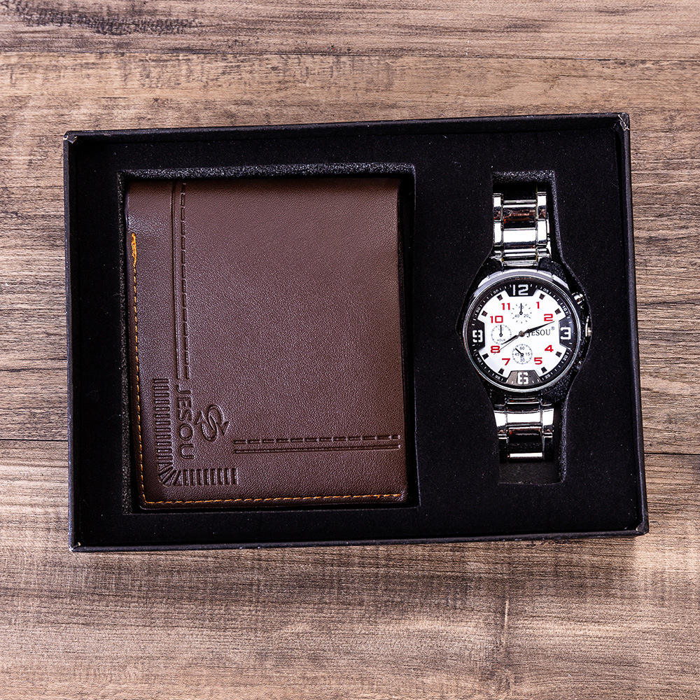 Men's gift set beautifully packaged watch + Wallet Set hot selling creative combination set