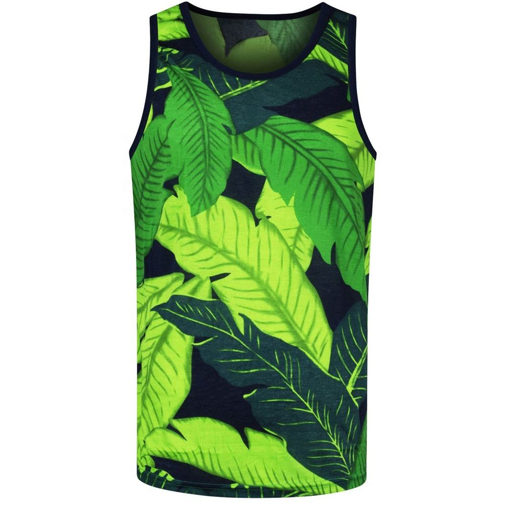 High Quality 2020 Custom Made Sublimated Printed Gym Mens Tank Top For Sale