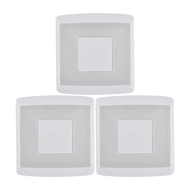 Push Lights ,LED Puck Light 80lumen Pack of 3 LED Living Room 3*AAA Battery for Closets Cabinets Kitchen 72*70*22mm DL2-1128A