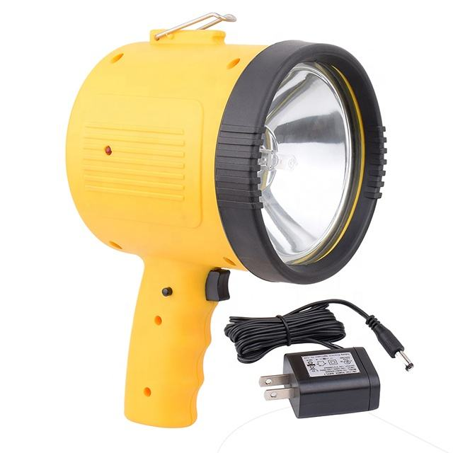 Rechargeable 1 Million Candle Power Spotlight with Built-In 12 Volt Adaptor