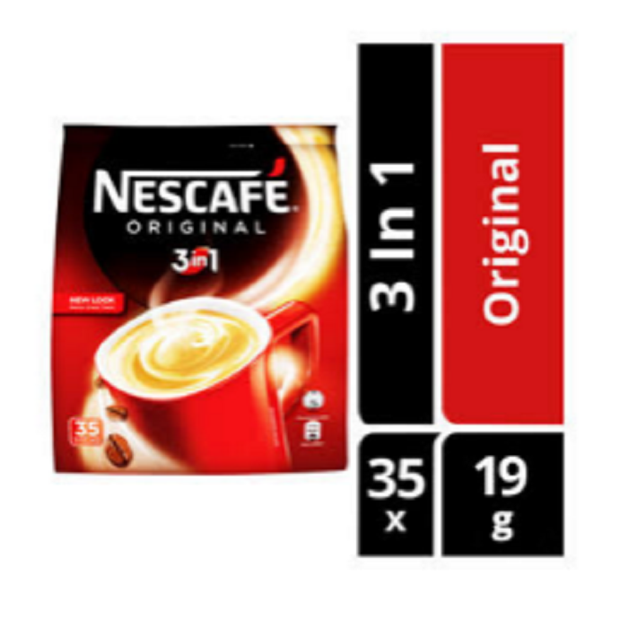 Neutral taste NES CAFE Original 3 in 1 Coffee bean with Caffeinated Feature made in Malaysia