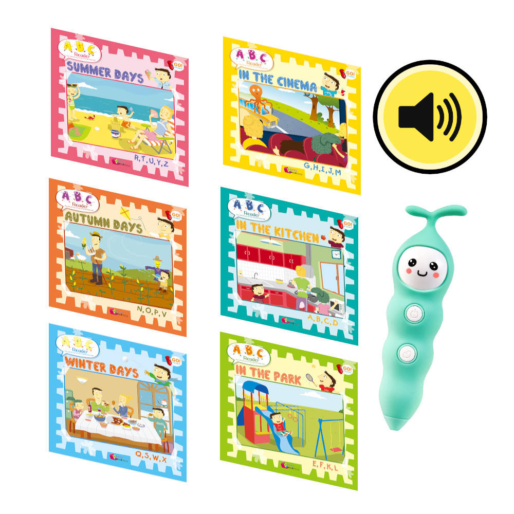ABC Reader digital reading pen Set Kids Reader Reading Book with Reading Pen XY1805