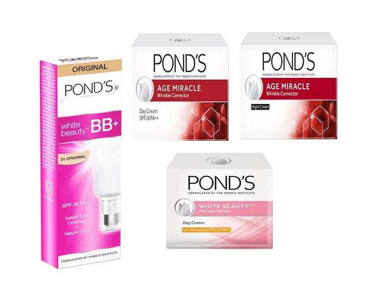 Ponds Age miracle Day Night cream and ponds BB , white beauty cream