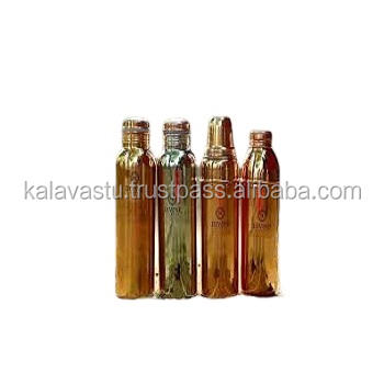 Indian Look Of Simple & Attractive Look Copper Bottle With Natural Finish