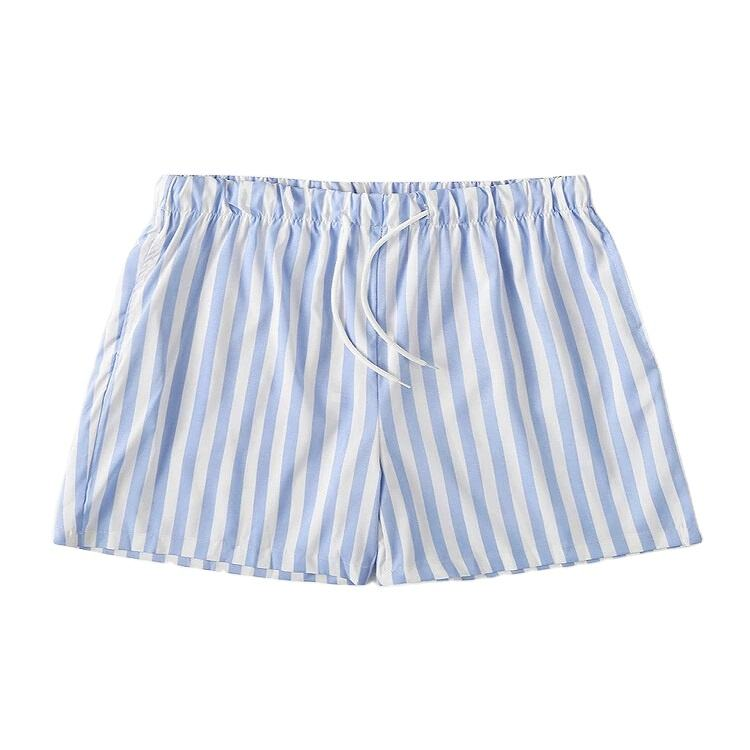 Men's Lightweight Casual Striped Swim Trunks Summer Breathable Beach Board Shorts