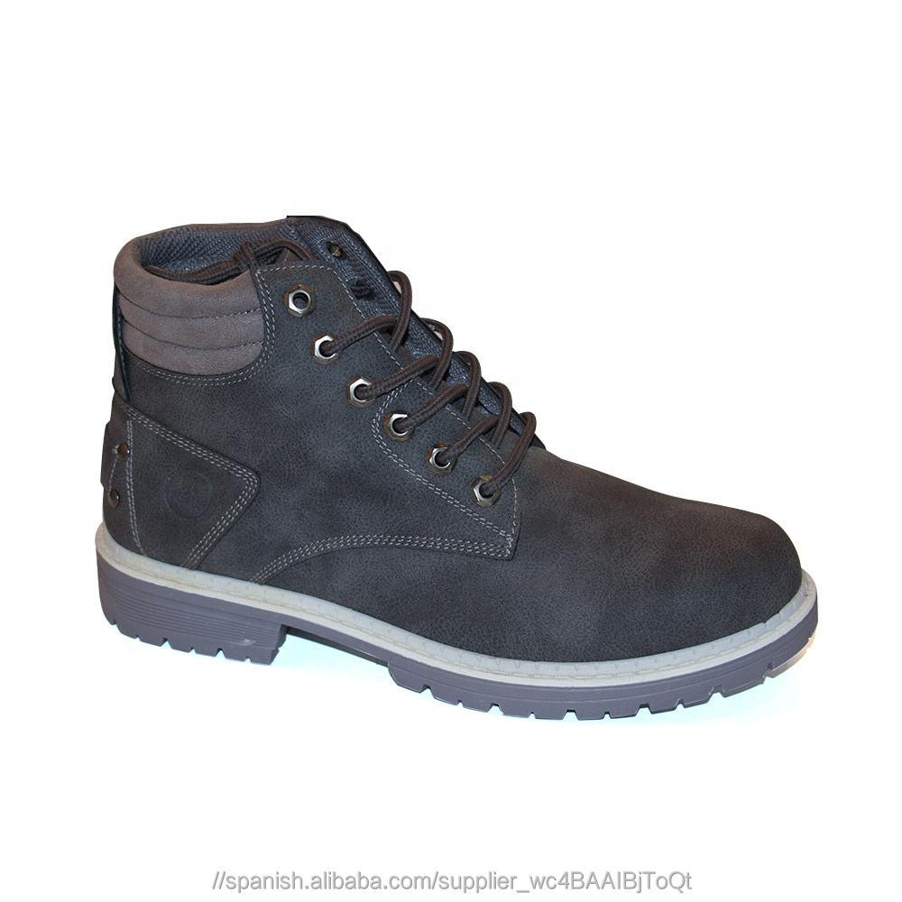 Nuevo tipo de vender bien parte superior de cuero de suela de goma de los hombres de trabajo botas de seguridad