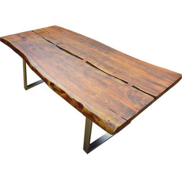 Furniture modern live edge slab Solid Acacia Wood Dining Table living Room restaurant Cafe table